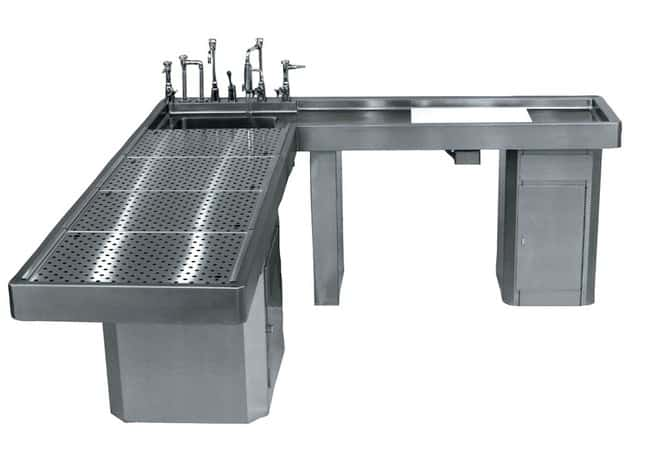 Mopec Elevating Autopsy Table with Integral Right-Handed Wing  HeightMetric: