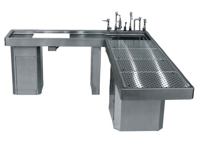 Mopec Elevating Autopsy Table with Integral Left-Handed Wing  HeightMetric: