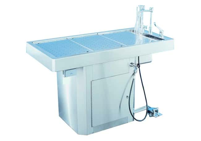 Mopec 60 Inch Pedestal Style Autopsy Table  HeightMetric: 93.98cm:Diagnostic