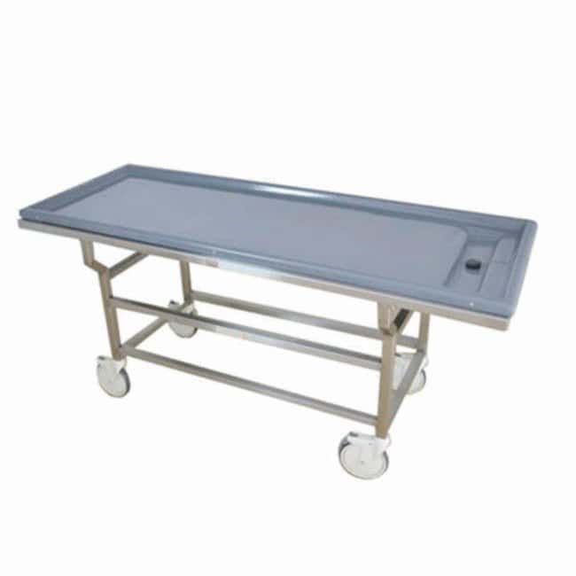 Mopec DA Series Autopsy Cart with Fiberglass X-Ray Top  LengthMetric: 204.47cm:Diagnostic