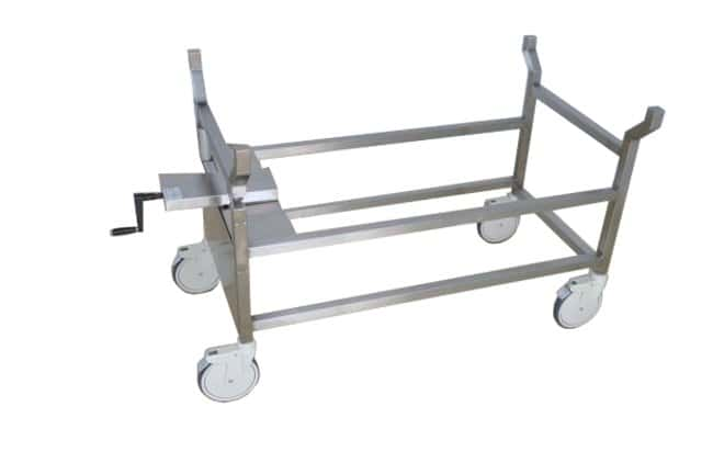 Hand crank, autopsy cart,optional tops, tilting, portable