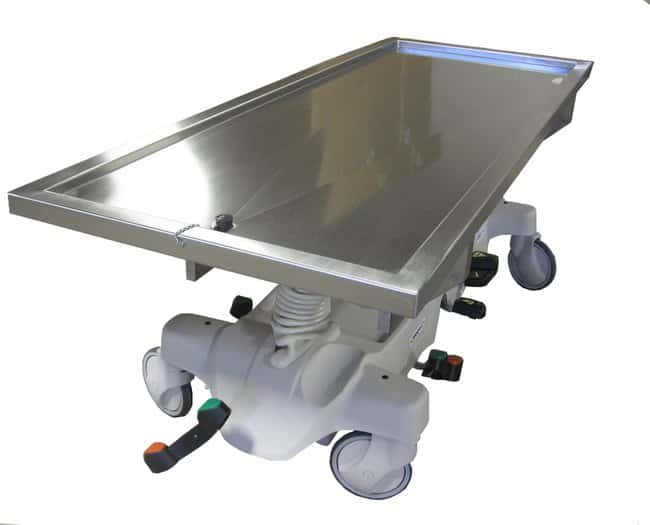 Mopec Hydraulic Dissection Cart with Standard Stainless Steel Top  LengthMetric: