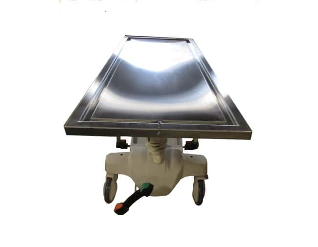 Mopec Hydraulic Dissection Cart with Inner Trough Stainless Steel Top