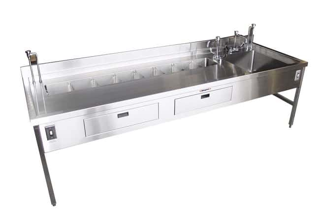 Mopec HF200 Organ Rinse Dissecting Station with Large Sink  LengthMetricSink:
