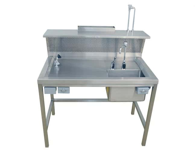 Mopec Back Draft Dissection Table with Right Sink  HeightMetric: 127cm:Furniture,