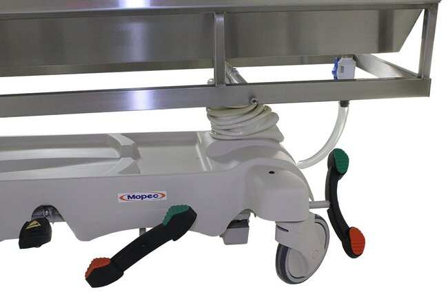 Mopec HB300 Hydraulic Dissection Cart with Ventilated Stainless Steel Top