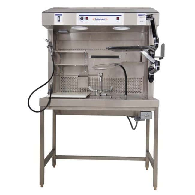 Mopec ME200 Dual Draft Exhaust Grossing Station with Drain Chamber  HeightMetric: