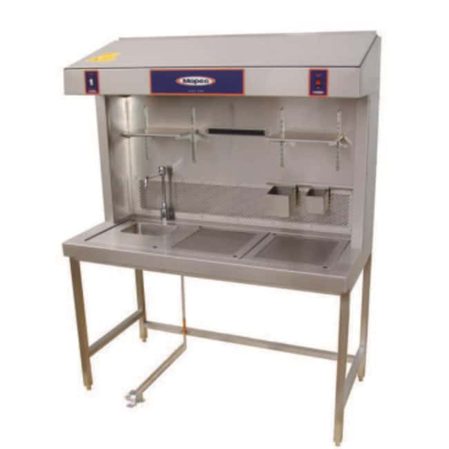 Mopec ME300 Dual Draft Exhaust Grossing Station with Drain Chamber  HeightMetric: