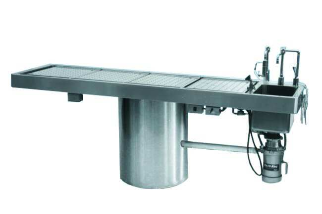 Mopec Rotating Pedestal Style Necropsy Table  HeightMetric: 94cm:Diagnostic