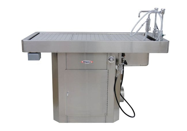 Mopec Short Pedestal Style Trimming Table  HeightMetric: 93.98cm:Diagnostic