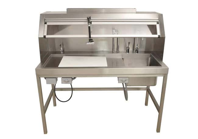 Mopec 60 Dissection Table Workstation with Right Sink  HeightMetric: 139.7cm:Diagnostic