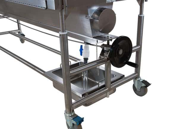 Mopec Elevating Covered Dissection Table with Lid Assist and Ventilation