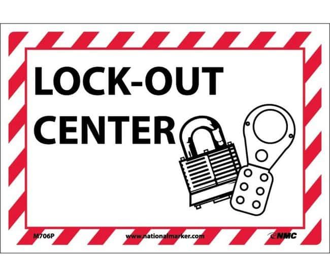 National MarkerLockout Center Signs:Facility Safety and Maintenance:Lockout-Tagout