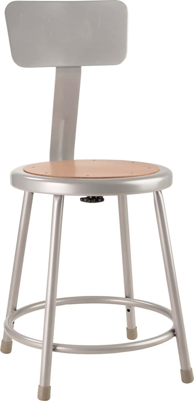 National Public Seating 6200 Series Heavy-Duty Steel Stools  Gray; Height: