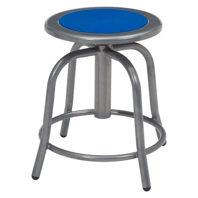 National Public Seating Height Adjustable Steel Stool  Frame: Gray; Seat: