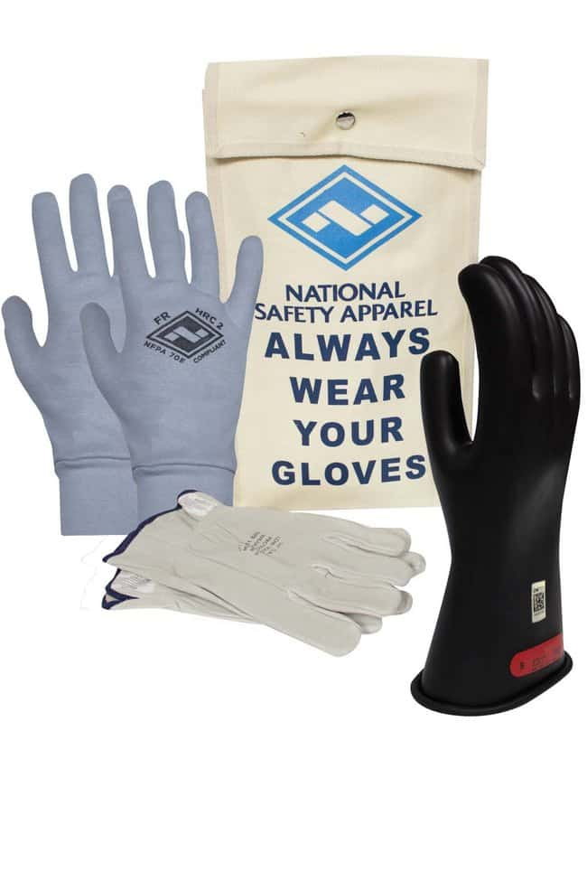 National Safety ApparelArcGuard Class 0 Rubber Voltage Gloves Premium Kit:Personal