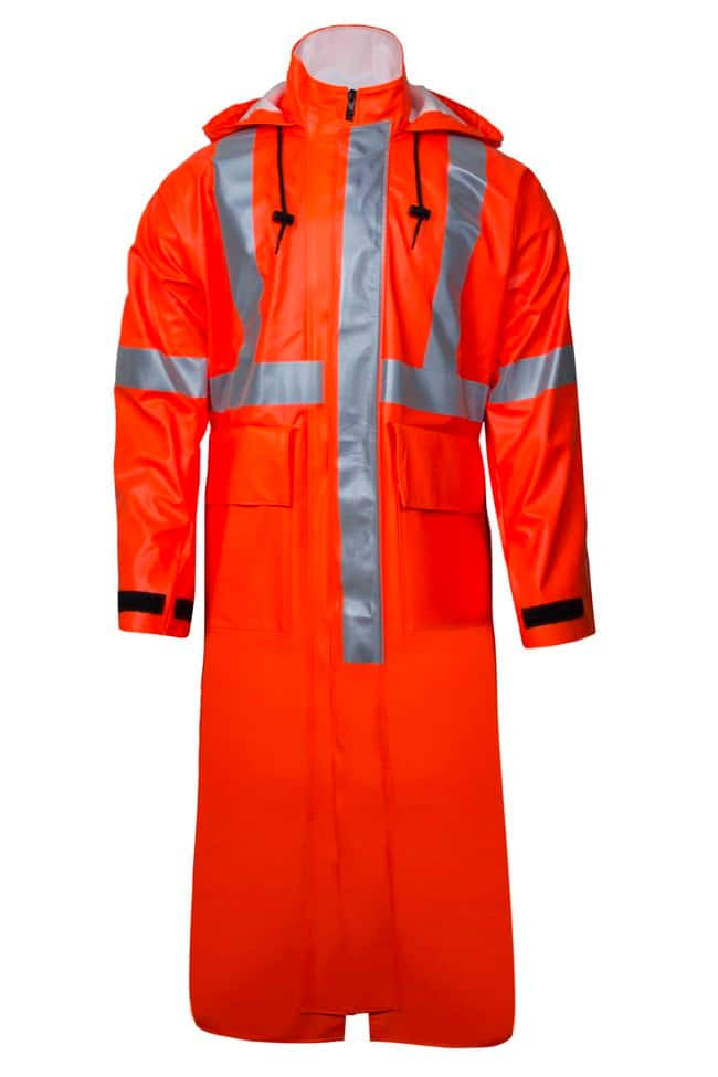 National Safety ApparelArc H2O FR Trench Coat Class 3 Orange:Personal Protective