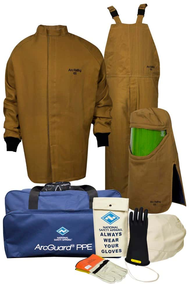 National Safety Apparel65 Cal ArcGuard Arc Flash Kit with Gloves (10):Personal