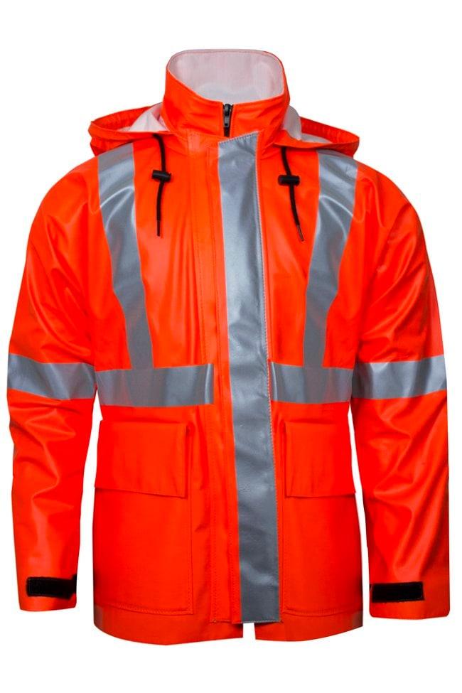 National Safety ApparelArc H2O FR Hi-Vis Orange Rain Jacket - Type R Class