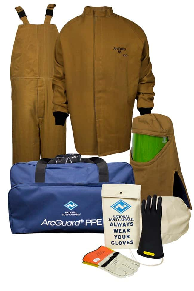 National Safety Apparel100 Cal ArcGuard Arc Flash Kit with Gloves (12):Personal