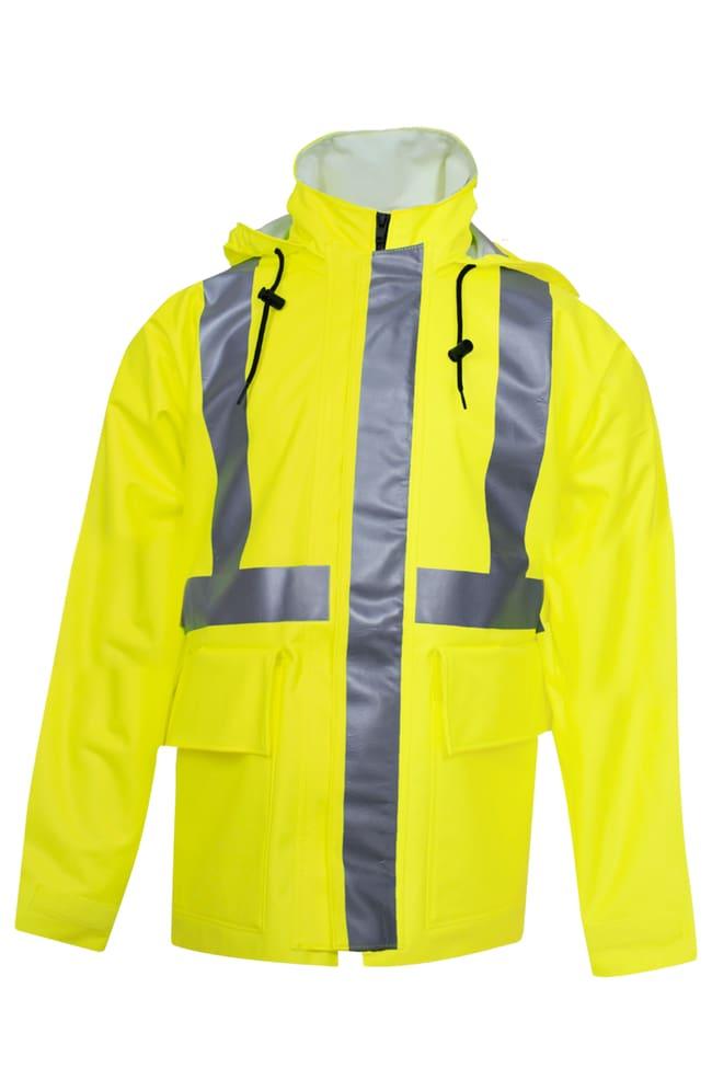 National Safety ApparelArc H2O FR Hi-Vis Yellow Rain Jacket - Type R Class