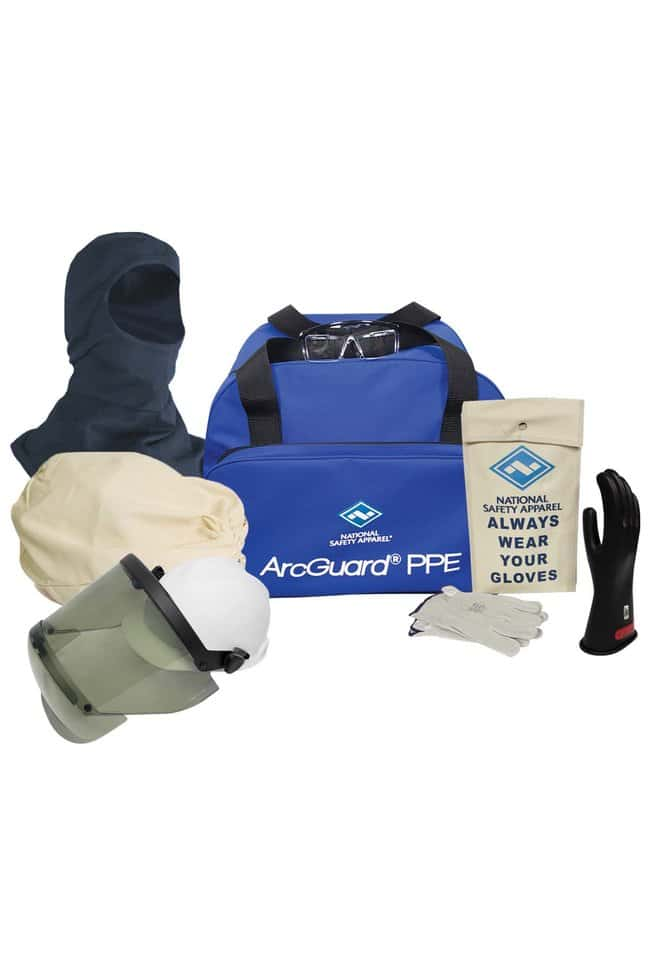 National Safety ApparelCAT 2 Arc Flash Accessory Kit with Class 0 Gloves:Personal