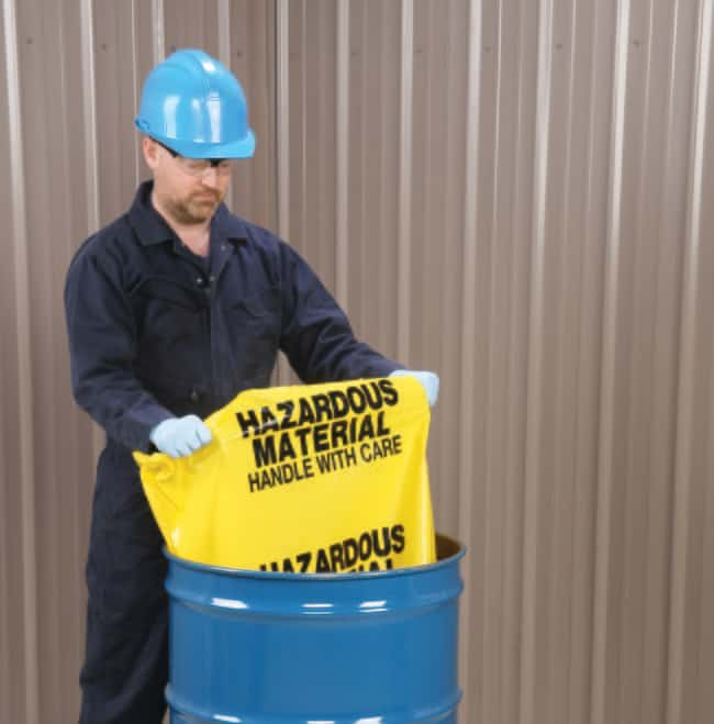 New PigHazardous Materials Disposal Bags Yellow/Black; 3mil; 60L x 36 in.