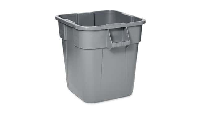 Rubbermaid BRUTE Square Containers Capacity: 28 gal.; Color: Gray:Gloves,