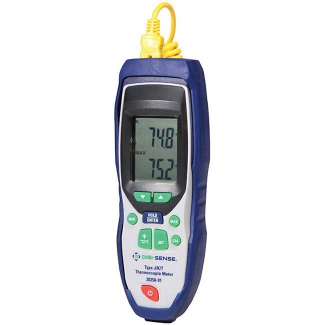Digi-Sense Advanced Precalibrated Thermocouple Thermometers Single input,