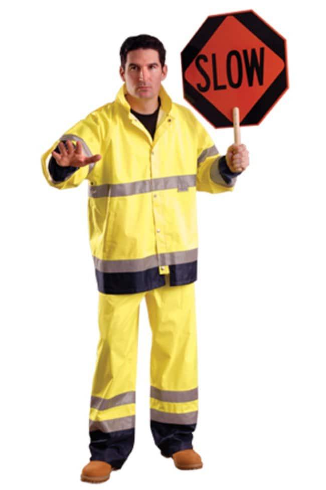 OccuNomix High-Viz Rain Pants Pants; Yellow; 2X:Gloves, Glasses and Safety