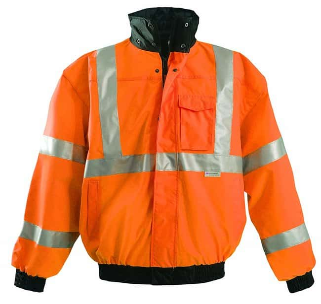 OccuNomix International High-Viz Orange Bomber Jackets Size: Medium:Gloves,