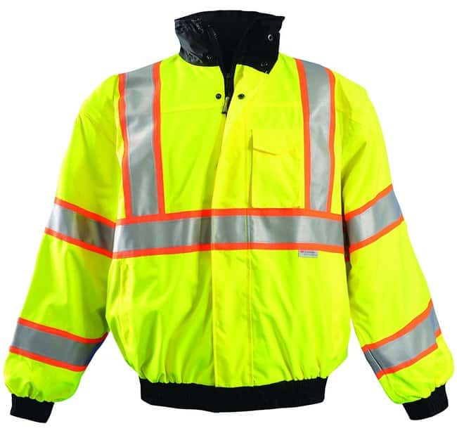 OccuNomix High-Viz Two-Tone Bomber Jackets Two-tone bomber; Hi-Viz yellow;