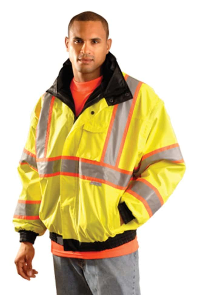 OccuNomix High-Viz Two-Tone Bomber Jackets:Gloves, Glasses and Safety:Lab