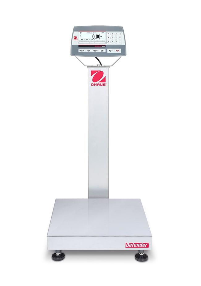 OHAUSDefender 5000 Bench Scales, 18 x 18 Inch Platform, Painted Steel Column:Balances