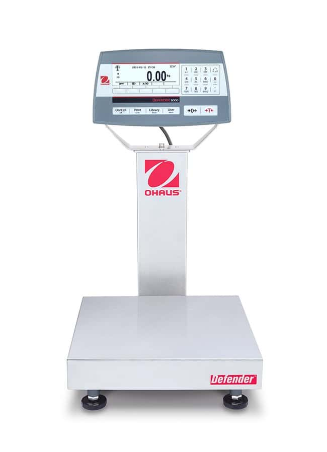 OHAUS™ Defender 5000 Bench Scales, 12 x 12 Inch Platform, Painted Steel Column