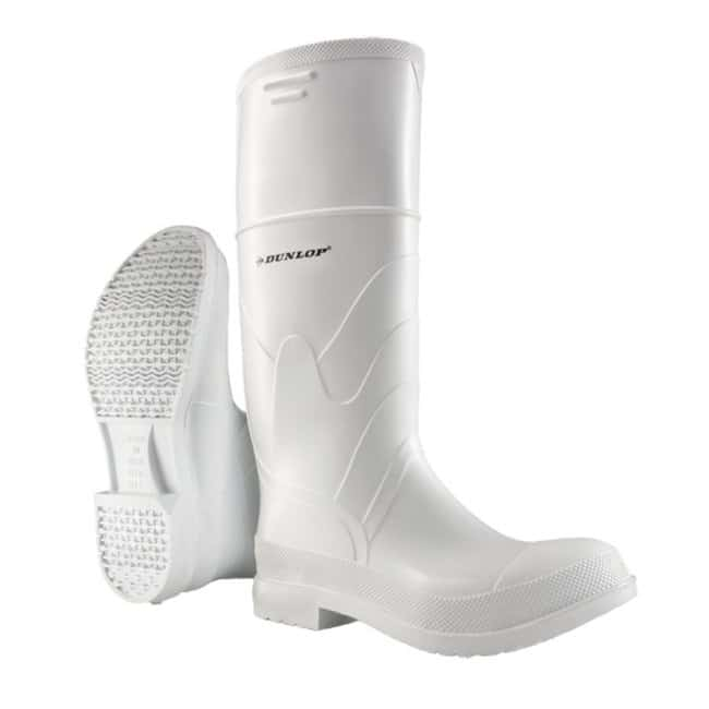 Dunlop Onguard White PVC Knee Boots Men's size: 6:Gloves, Glasses and Safety