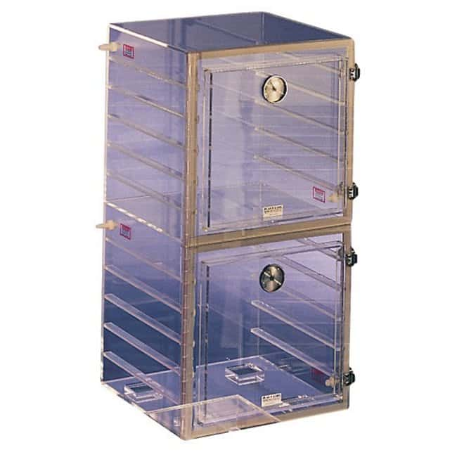 Plas Labs Clear Desiccator with Perforated Shelves D x W x H: 30.4 x 30.4