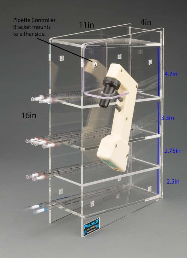Poltex Serological Pipette Holder with Pipette Controller Bracket:Racks,