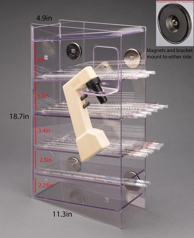 Poltex 5 Pocket Serological Pipette Holder (Magnet Mount) with Side-mount