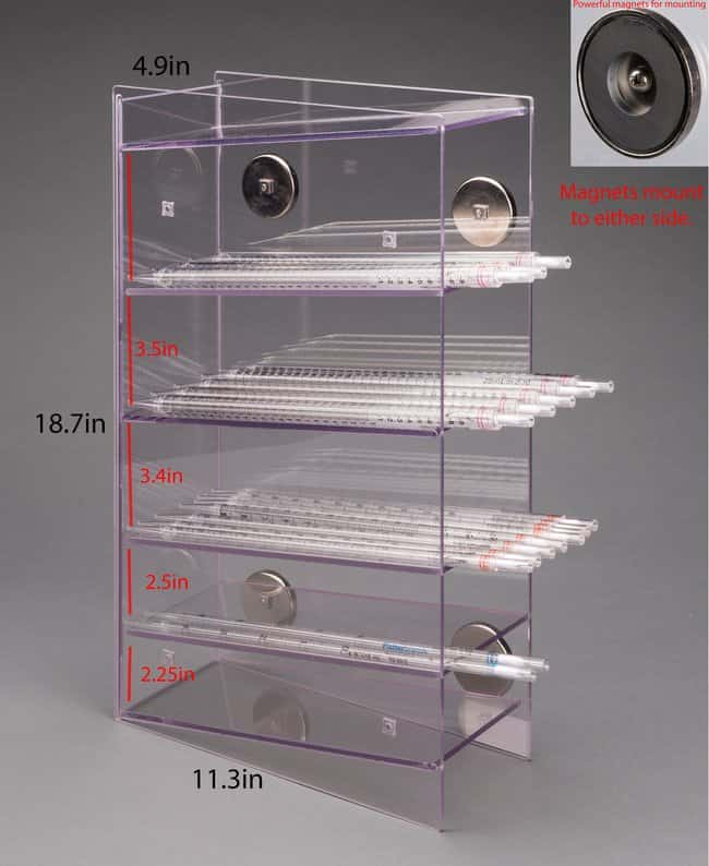 Poltex Serological Pipette Holder (5 Pocket):Racks, Boxes, Labeling and