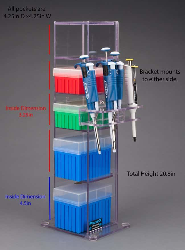 Poltex Lab Bench Vertical Organizer With Pockets 5 Pocket Pipettor
