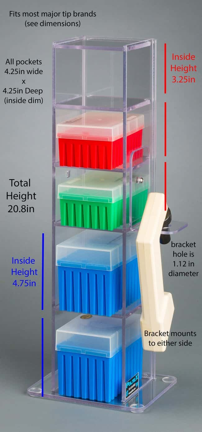 Poltex 5 Pocket Vertical Lab Bench Organizer With Pipette Controller