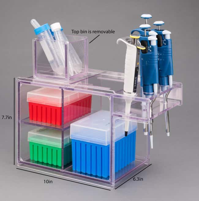 Poltex Pass Thru Pipette/Tip Box Holder (PETG) Pass Thru Pipette/Tip Box