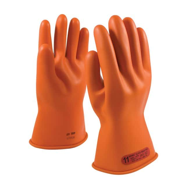 PIPNOVAX Class 0 Natural Rubber Electrical Insulating Gloves - 11 in.:Personal