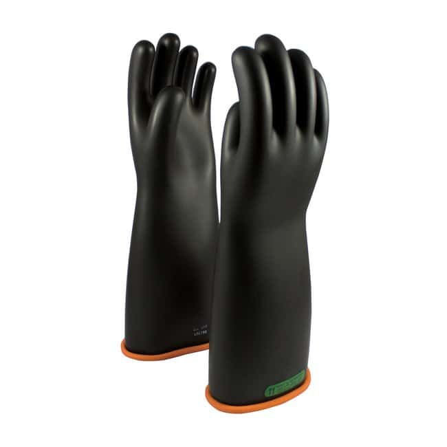 PIPNOVAX Class 3 Black Natural Rubber Electrical Insulating Gloves:Personal
