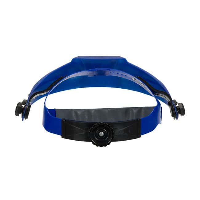 PIP Headgear for Face Protection with Ratchet Suspension Blue:Gloves, Glasses