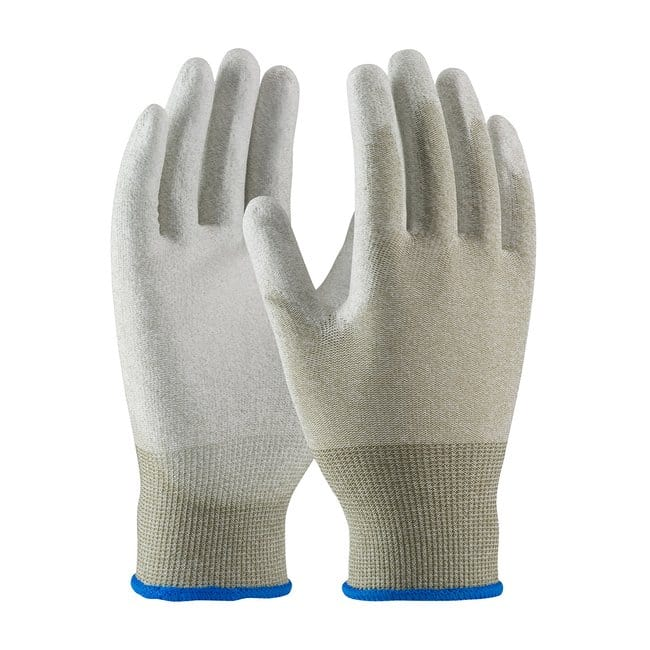 PIPCleanTeam Seamless Knit Nylon/Copper Fiber ESD Gloves with Polyurethane