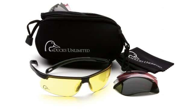 Pyramex Ducks Unlimited Shooting Kit Safety Eyewear:Gloves, Glasses and