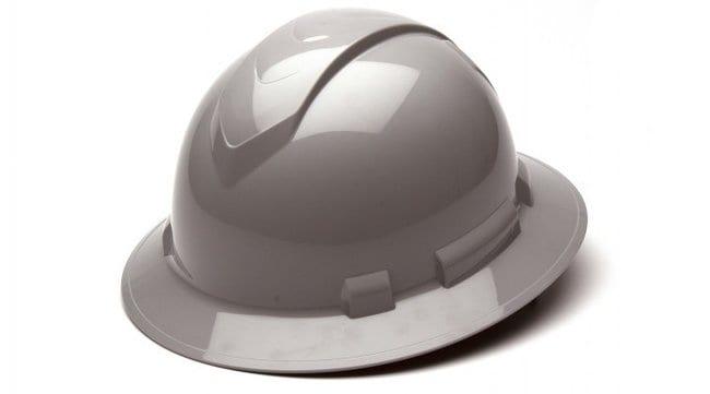 Pyramex Safety ProductsRidgeline Full Brim Hard Hat, 4-Point Ratchet Suspension:Personal