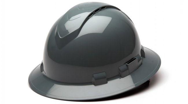 Pyramex Safety Products Ridgeline Vented Full Brim Hard Hat Gray:Gloves,